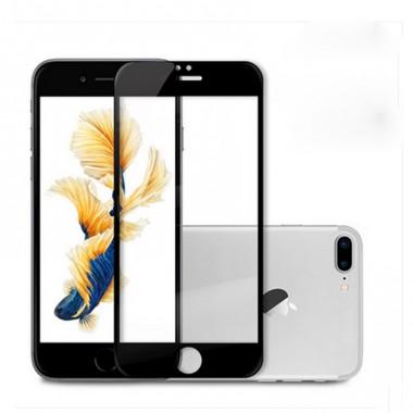 Черное защитное стекло на экран для iPhone 6+/6s+