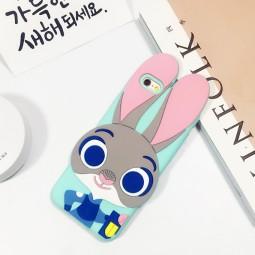 """Силиконовый 3D чехол """"Zootopia"""" для iPhone 5/5s/SE"""