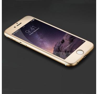 Переднее золотое защитное 4D стекло для iPhone 7