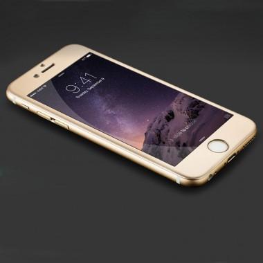 Защитное золотое 4D стекло для iPhone 6+/6s+