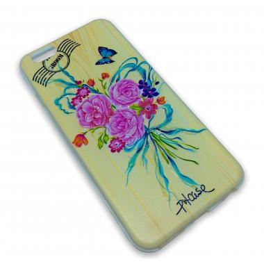"""Силиконовый 3D чехол """"Розы"""" для iPhone 6/6s"""