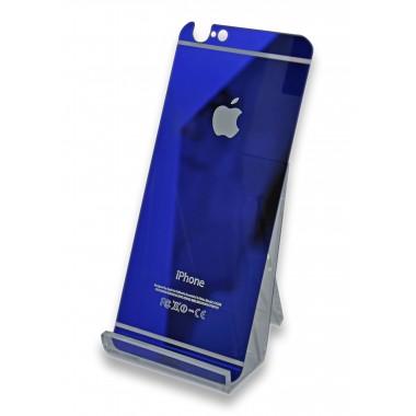 Заднее синее защитное стекло для iPhone 6/6s