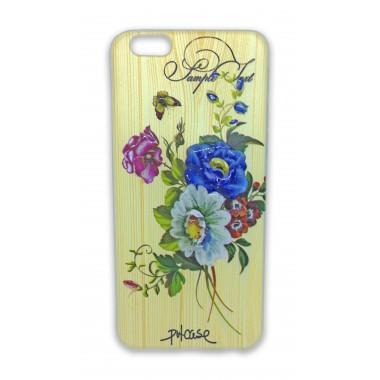 """Силиконовый 3D чехол """"Цветы"""" для iPhone 6/6s"""