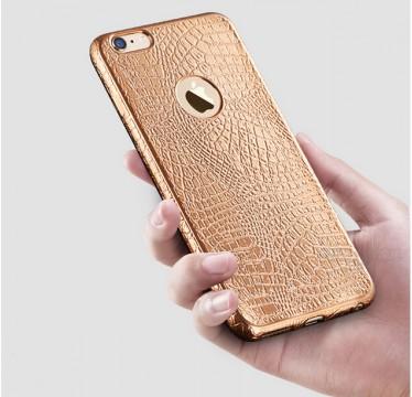 """Силиконовый золотой чехол """"Змея"""" для iPhone 5/5s/SE"""