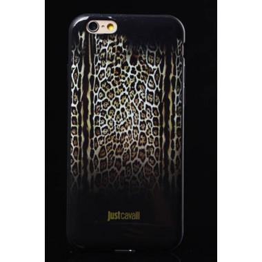 """Силиконовый чехол """"Just Cavalli"""" темный для iPhone 6/6S"""