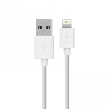 "Lightning USB кабель ""Belkin"" 1m белый для iPhone/iPod/iPad"
