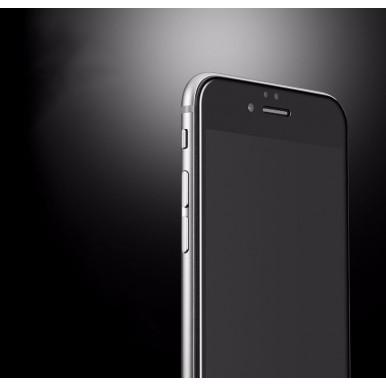Переднее черное защитное 4D стекло для iPhone 6/6S