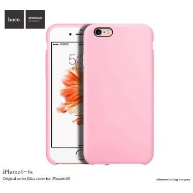 Silicone case Hoco Original series Silica для iPhone 6/6s розовый