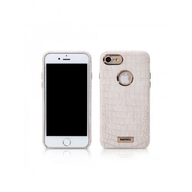 """Кожаный золотой чехол """"Remax Maso"""" для iPhone 7 Plus"""