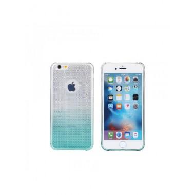 Силиконовый голубой чехол Remax Bright Gradient для iPhone 6/6s