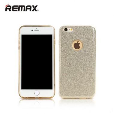 Блестящий золотой чехол Remax Glitter для iPhone 6/6s