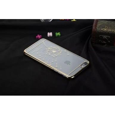 """Пластиковый чехол """"Одуванчик"""" золотой для iPhone 6/6s"""