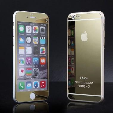 Комплект золотых защитных стекол для iPhone 6/6s