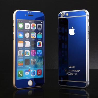 Комплект синих защитных стекол для iPhone 6/6s