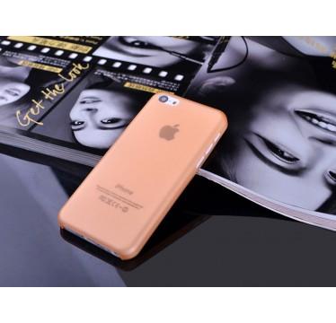 """Ультратонкий оранжевый чехол """"0.2mm"""" для iPhone 5C"""
