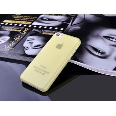 """Ультратонкий чехол """"Ultrathin 0.3mm"""" желтый для iPhone 5C"""