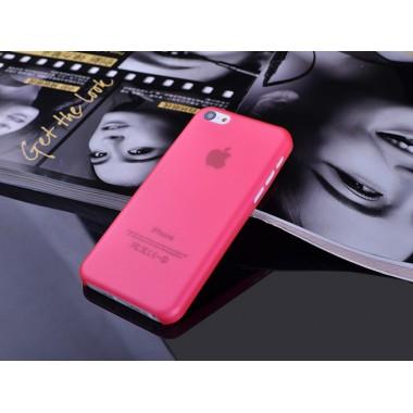 """Ультратонкий красный чехол """"0.2mm"""" для iPhone 5C"""