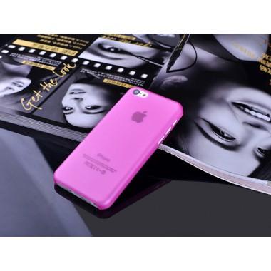 """Ультратонкий розовый чехол """"0.2mm"""" для iPhone 5C"""