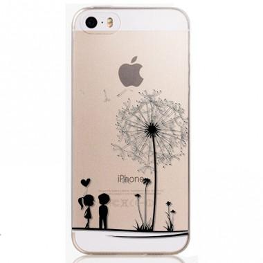 """Силиконовый чехол """"Одуванчик"""" прозрачный для iPhone 5C"""