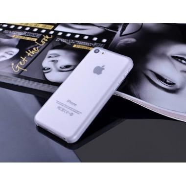 """Ультратонкий белый чехол """"0.2mm"""" для iPhone 5C"""