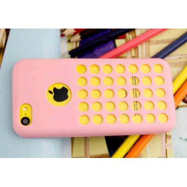 Розовый силиконовый чехол для iPhone 5C