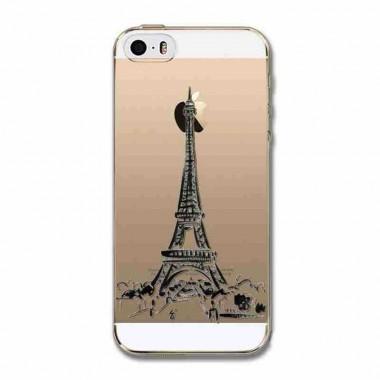 """Силиконовый чехол """"Эйфелева башня"""" для iPhone 5C"""