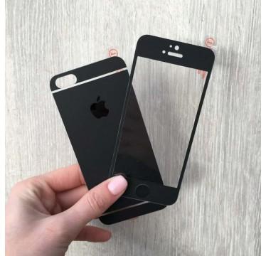 Комплект черных матовых защитных стекол для iPhone 5/5s