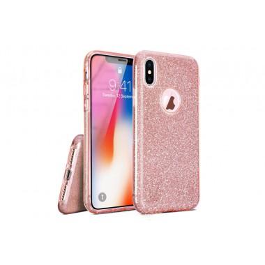 Силиконовый розовый чехол Shine для iPhone Xs Max