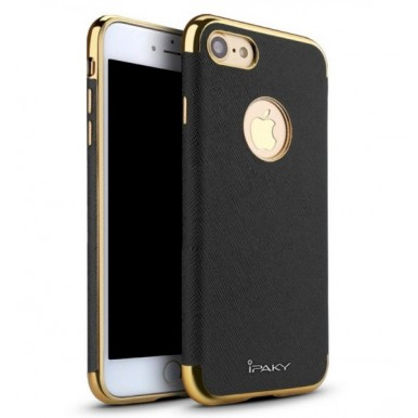 "Силиконовый чехол ""iPaky Leather Black"" для iPhone 7 и 8 Plus"