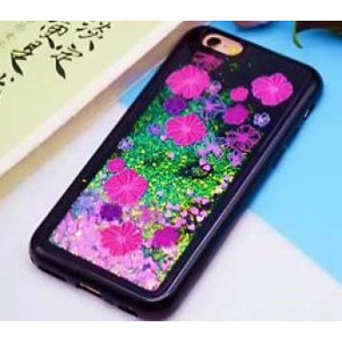 Силиконовый переливающийся 4D чехол Цветы для iPhone X