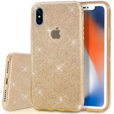 Силиконовый золотой чехол Aspor Mask Collection для iPhone X
