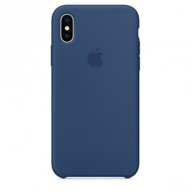 Blu colbalt Apple silicone case для iPhone X