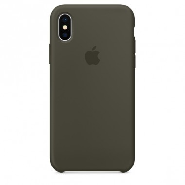 Dark olive Apple silicone case для iPhone X