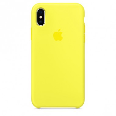 Flash Apple silicone case для iPhone X