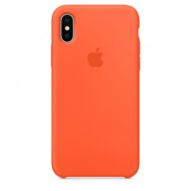 Spicy orange Apple silicone case для iPhone X