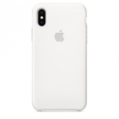 White Apple silicone case для iPhone X