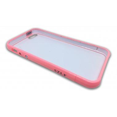 Пластиковый розовый бампер с задней крышкой для iPhone 5/5s/SE