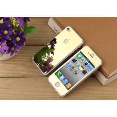 Комплект золотых защитных стекол для iPhone 4/4s