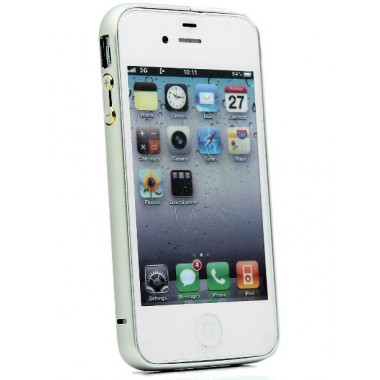 Металлический серебряный бампер для iPhone 4/4s