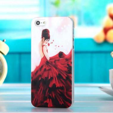 """Пластиковый чехол """"Красное платье"""" для iPhone 4/4S"""