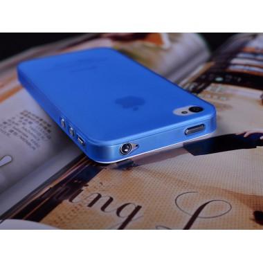 """Ультратонкий синий чехол """"0.2mm"""" для iPhone 4/4s"""