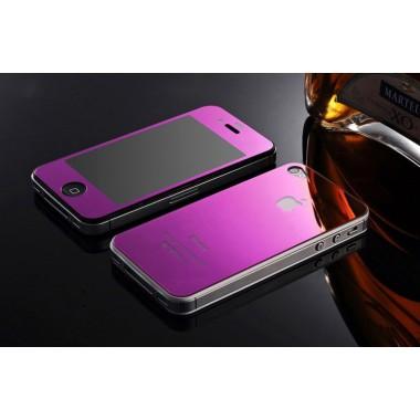 Комплект фиолетовых защитных стекол для iPhone 4/4s