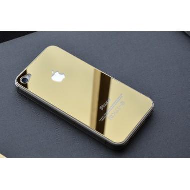 Заднее золотое стекло для iPhone 4/4S