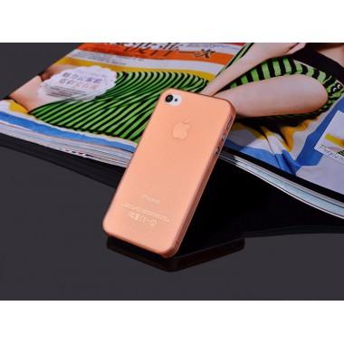 """Ультратонкий оранжевый чехол """"0.2mm"""" для iPhone 4/4s"""