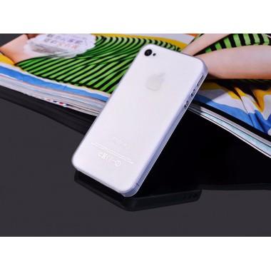 """Ультратонкий белый чехол """"0.2mm"""" для iPhone 4/4s"""