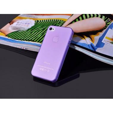 """Ультратонкий фиолетовый чехол """"0.2mm"""" для iPhone 4/4s"""