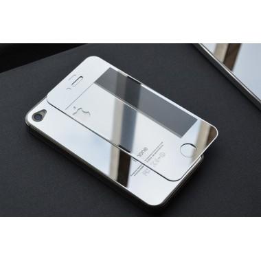 Заднее серебряное стекло для iPhone 4/4S