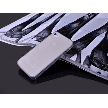 """Ультратонкий серый чехол """"0.2mm"""" для iPhone 4/4s"""