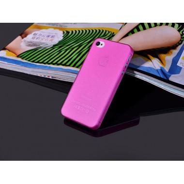 """Ультратонкий розовый чехол """"0.2mm"""" для iPhone 4/4s"""