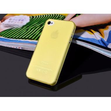 """Ультратонкий желтый чехол """"0.2mm"""" для iPhone 4/4s"""